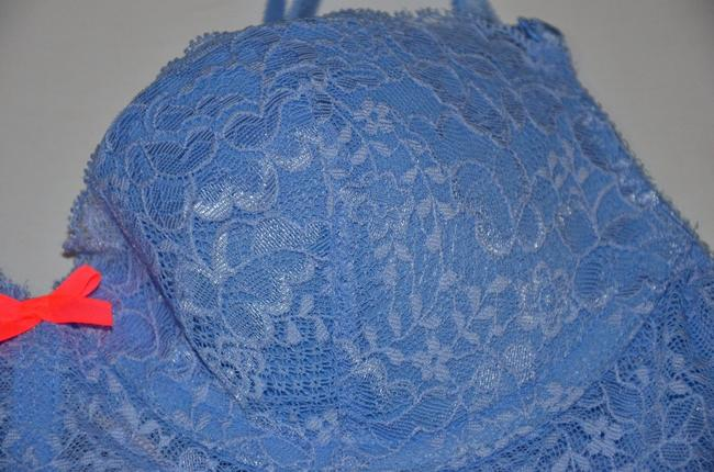 Victoria's Secret Lingerie Underwired Lace Floral Top blue