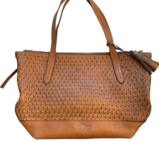 Preload https://img-static.tradesy.com/item/23338027/cole-haan-parker-woven-shopper-brown-leather-tote-0-1-540-540.jpg