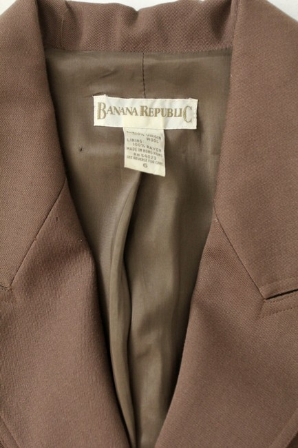 Banana Republic Equestrian Long Wool Brown Blazer