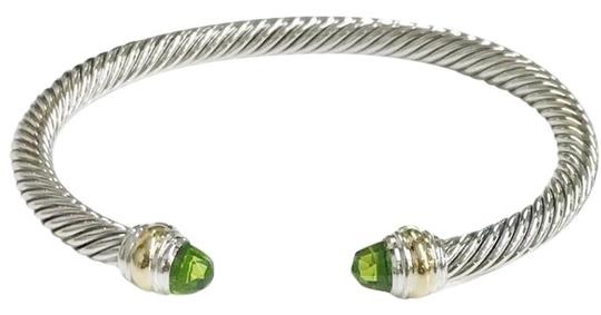 Preload https://item3.tradesy.com/images/david-yurman-never-worn-peridot-14-karat-yellow-gold-and-sterling-silver-cable-nwot-fits-up-to-725-5-23338052-0-2.jpg?width=440&height=440