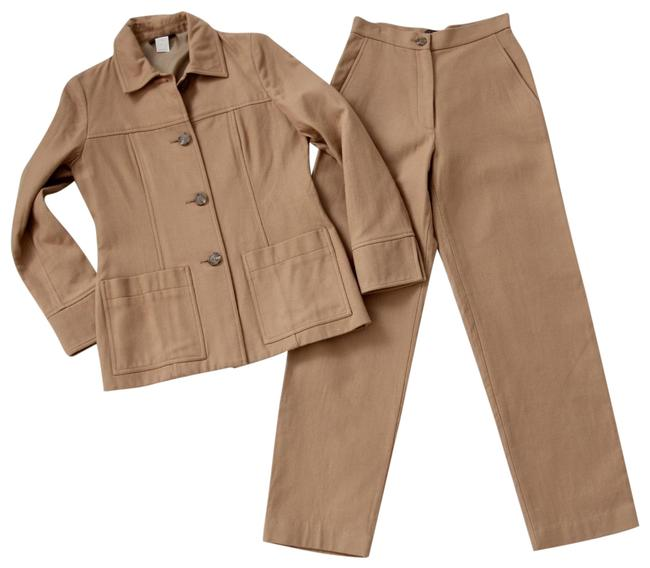 Preload https://img-static.tradesy.com/item/23338068/jcrew-brown-cotton-pant-suit-size-6-s-0-2-650-650.jpg