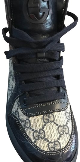 Preload https://item2.tradesy.com/images/gucci-navy-blue-and-gray-258399-sneakers-size-eu-38-approx-us-8-regular-m-b-23338081-0-1.jpg?width=440&height=440