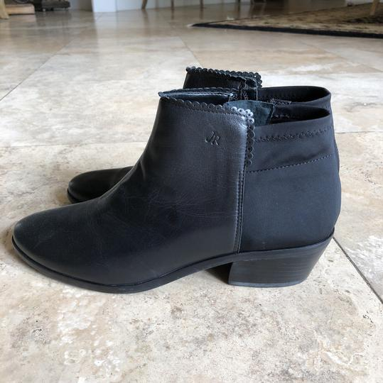Jack Rogers Leather Scalloped black Boots