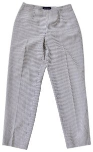 Piazza Sempione Wool Silk Stretch Capri/Cropped Pants Gray