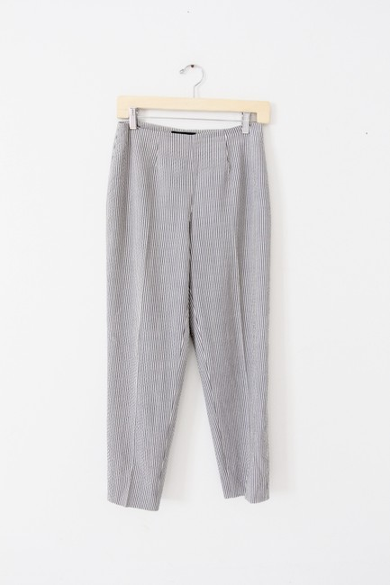 Piazza Sempione Wool Silk Stretch Capri/Cropped Pants Gray Image 1