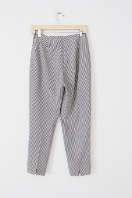 Piazza Sempione Wool Silk Stretch Capri/Cropped Pants Gray Image 2