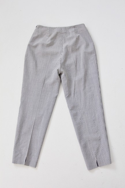 Piazza Sempione Wool Silk Stretch Capri/Cropped Pants Gray Image 4