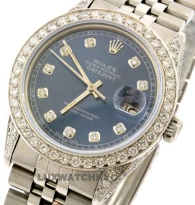 Rolex 4CT 36MM ROELX DATEJUST S/S WATCH WITH BOX & APPRAISAL