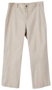 Banana Republic Crop Stretchy Stretch Cotton Capri/Cropped Pants Khaki