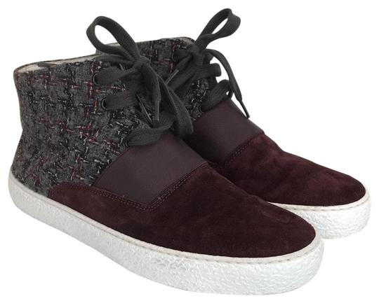 Preload https://item2.tradesy.com/images/chanel-burgundy-395-9-95-suede-and-tweed-high-top-sneaker-sneakers-size-us-9-regular-m-b-23338166-0-1.jpg?width=440&height=440