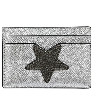 Coach Coach Card case Holder Metallic Sliver Star leather Credit Card Case