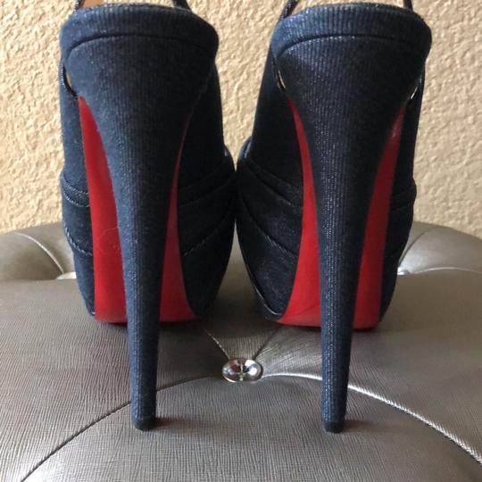 Christian Louboutin denim blue Platforms