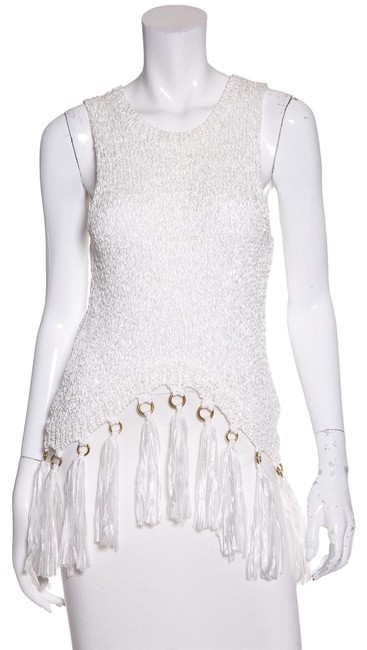 Preload https://item1.tradesy.com/images/alc-white-woven-fringe-detail-tank-topcami-size-6-s-23338205-0-1.jpg?width=400&height=650