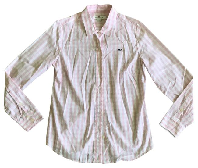 Preload https://item3.tradesy.com/images/vineyard-vines-pink-gingham-checkered-button-down-top-size-8-m-23338222-0-1.jpg?width=400&height=650