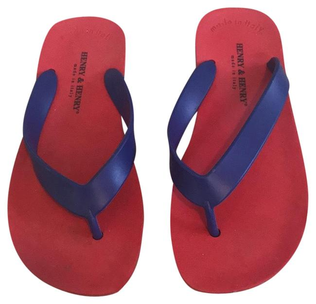 Henry & Henry Red Sandals Size EU 36 (Approx. US 6) Regular (M, B) Henry & Henry Red Sandals Size EU 36 (Approx. US 6) Regular (M, B) Image 1