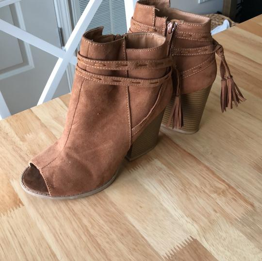Qupid fawn suede Boots