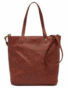 American Leather Co Handbag Tote in BRANDY FLORAL