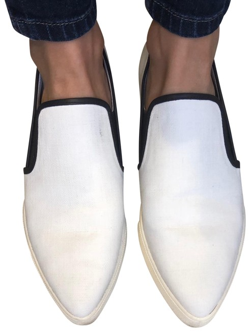 Vince Black \u0026 White Pointed Tow Slip-on