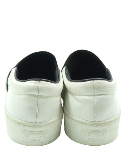 Céline Patent Leather Slip On Sneakers Sneakers White Athletic