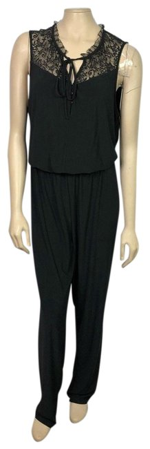 Preload https://item5.tradesy.com/images/laundry-by-shelli-segal-black-lace-inset-tie-neck-long-romperjumpsuit-size-14-l-23338319-0-1.jpg?width=400&height=650