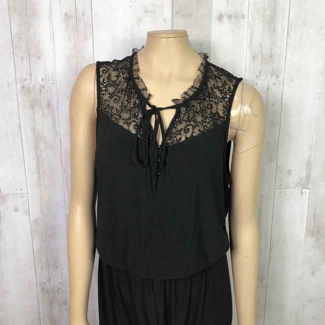 Laundry by Shelli Segal Lace Inset Tie Neck Lace Dress