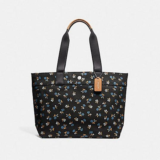Coach Taylor Leather Platinum Tote in black MULTI/BLACK ANTIQUE NICKEL