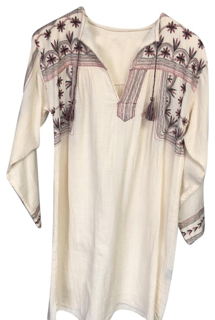 Preload https://img-static.tradesy.com/item/23338371/isabel-marant-beige-tunic-with-embroidery-mid-length-short-casual-dress-size-10-m-0-2-650-650.jpg