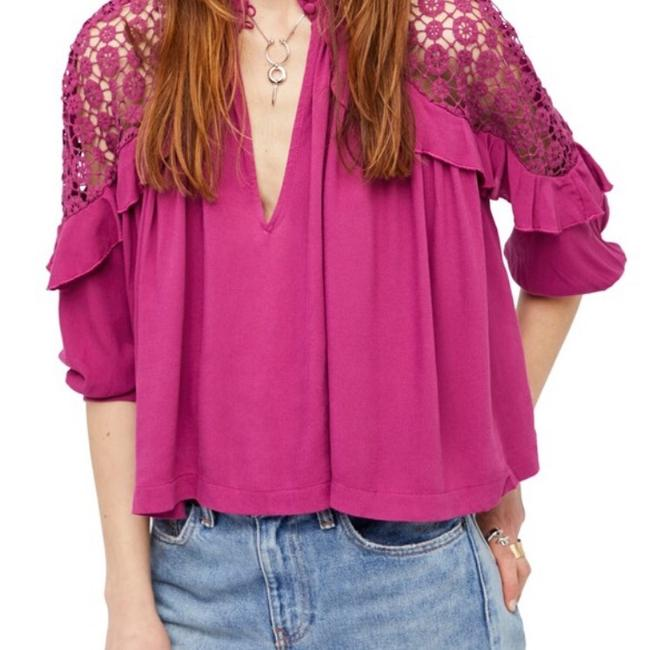 Free People Top Raspberry Pink Image 1