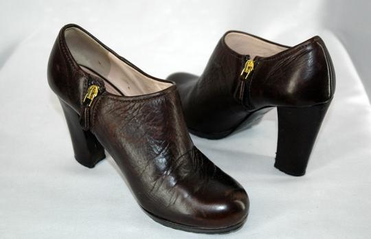 Prada Leather Brown Boots
