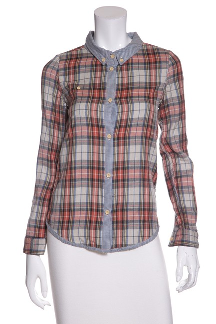 Preload https://img-static.tradesy.com/item/23338401/multicolor-plaid-button-down-top-size-2-xs-0-0-650-650.jpg