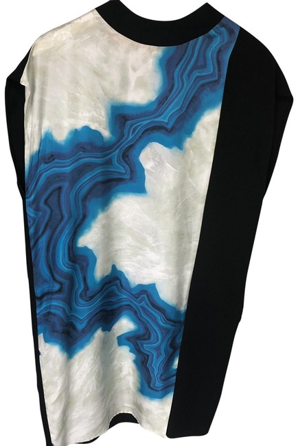 Preload https://item4.tradesy.com/images/31-phillip-lim-black-white-and-blue-silk-with-graphic-design-mid-length-cocktail-dress-size-6-s-23338408-0-2.jpg?width=400&height=650