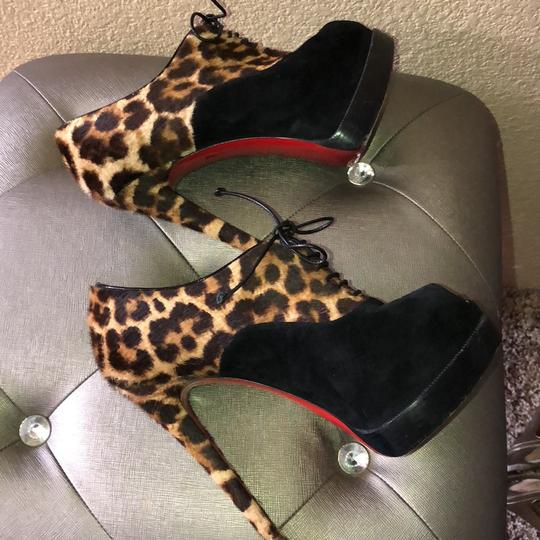 Christian Louboutin black/leopard Boots