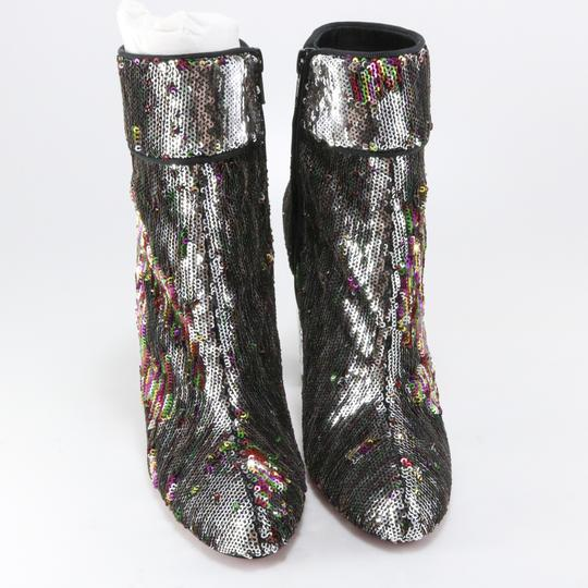 Christian Louboutin Moulamax Sequin Rare Silver, Multi Boots