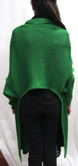 Zang Toi Knit Wool Cardigan Wrap Cape
