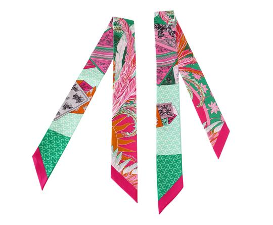 Preload https://item3.tradesy.com/images/hermes-pink-orange-green-twilly-cheval-phoenix-multi-colour-set-of-2-glorious-summe-scarfwrap-23338442-0-0.jpg?width=440&height=440
