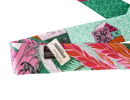 Hermès Hermes Twilly Cheval Phoenix Pink Multi Colour Set of 2 Glorious Summe