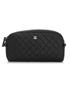 Chanel Cosmeitc Case Toiletry black Travel Bag