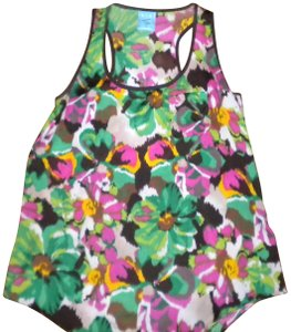 H.I.P. Floral Racerback Top Multi-Color