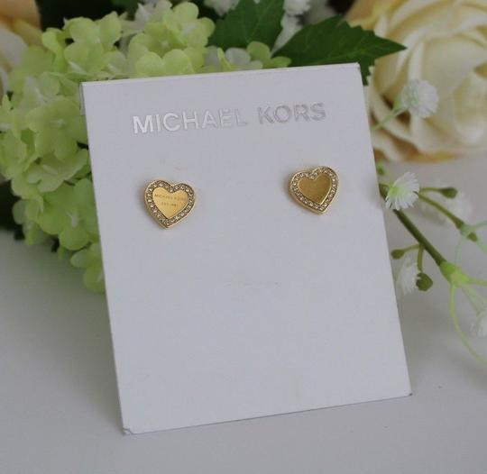 Michael Kors Michael Kors Crystal Heart Stud Earrings