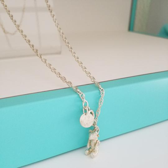 Tiffany & Co. Tiffany & Co sterling silver Teddy bear pendant Necklace
