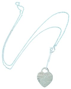 Tiffany & Co. Tiffany & Co Sterling Silver I Love You Heart Tag Charm Necklace