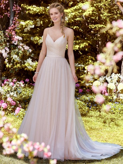 Maggie Sottero All Blush Tulle Maxine Modern Wedding Dress Size 6 (S)