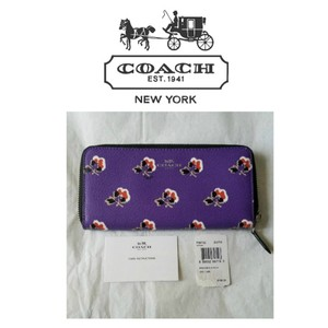 Coach COACH Bramble Rose slim zip accordion wallet NWT Authentic Rare