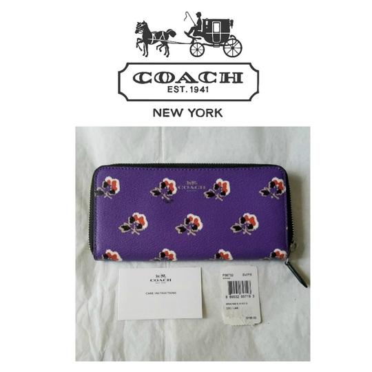 Preload https://item4.tradesy.com/images/coach-purple-bramble-rose-slim-zip-accordion-rare-wallet-23338728-0-2.jpg?width=440&height=440