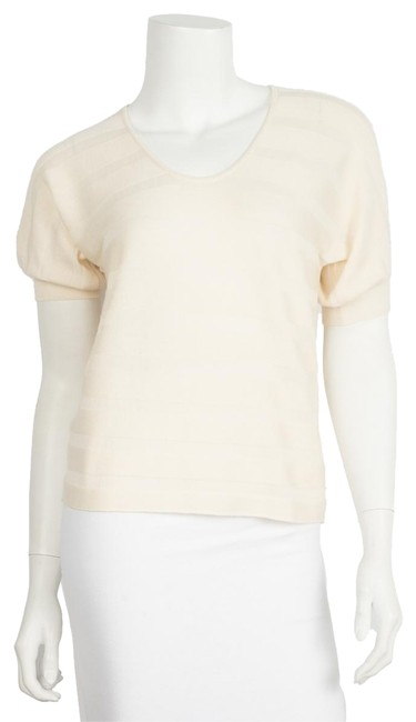 Preload https://item5.tradesy.com/images/prada-beige-cashmere-40-blouse-size-10-m-23338729-0-1.jpg?width=400&height=650