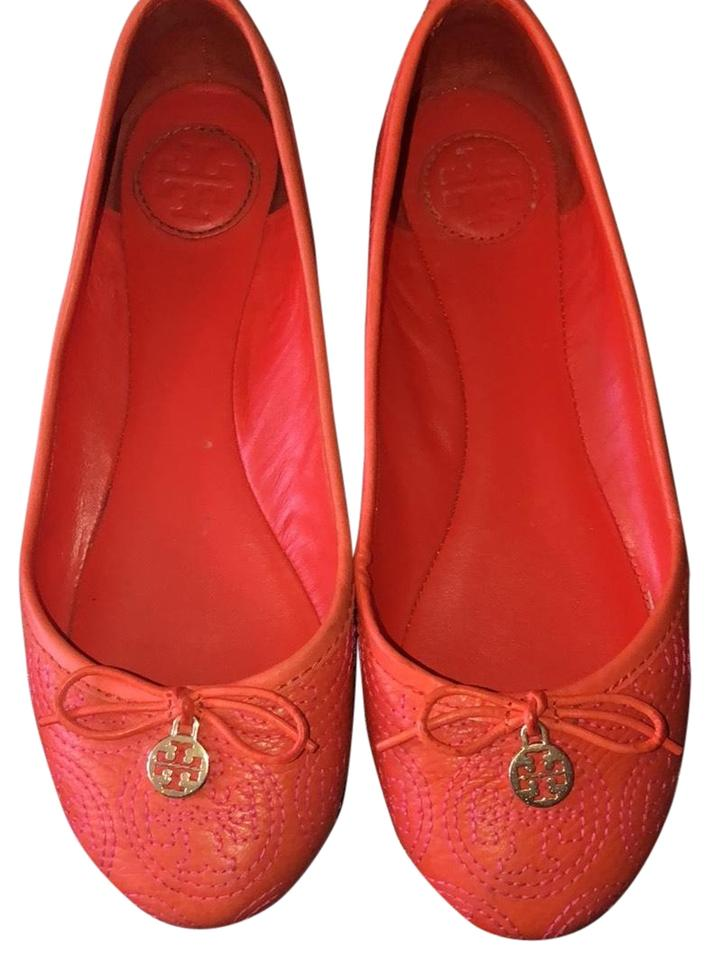 19f3f9ec374a6 Tory Burch Orange Ballerina Flats Size US 6 Regular (M