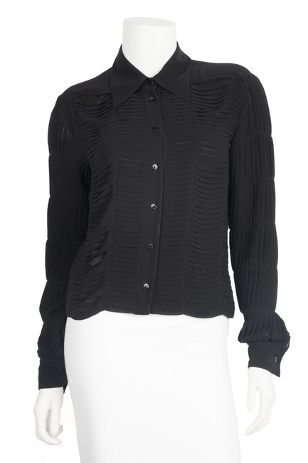 Preload https://item4.tradesy.com/images/chanel-black-long-sleeve-button-up-38-button-down-top-size-6-s-23338738-0-0.jpg?width=400&height=650