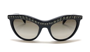 Prada Free 3 Day Shipping SPR 04P 1AB1X1 Vintage Cat Eye Swarovski Crystals