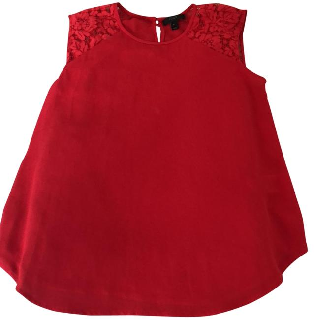 Preload https://item4.tradesy.com/images/jcrew-red-lace-detail-blouse-size-2-xs-23338798-0-1.jpg?width=400&height=650