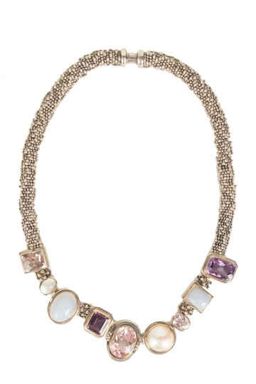 Preload https://item1.tradesy.com/images/michael-dawkins-silver-multicolor-stone-necklace-23338810-0-0.jpg?width=440&height=440